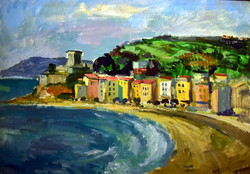 József Palicz (1931-) view of the seaside town !!!