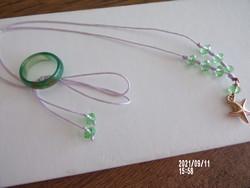 Zöld kristályköves nyaklánc