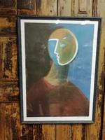 Aknay János digitális print, művészpéldány