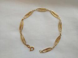 Gold filigree women's bracelet