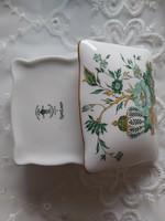 Staffordshire crown angol porcelán dobozka bonbonier
