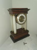 Antique Biedermeier table - fireplace clock