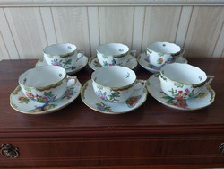 Herend Victoria pattern teacup with base 6 pcs