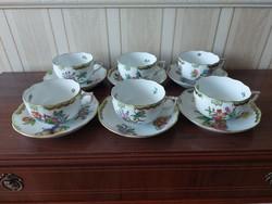 Herendi Viktória  mintás teás csésze aljával 6  db