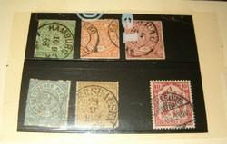 Ónémet nordeutcher postbezirk német bélyeg  5 darab észak német postaszövetség 5 darab egyben