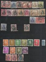 32 darab német harmadik birodalom bélyeg korai császárság stb Deutsches Reich inflációs stb