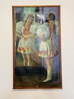 Cs. Joachim f. Olaj vászon 40x80
