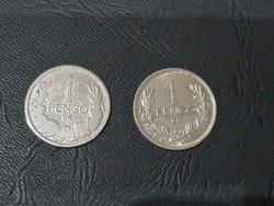 2db Ezüst 1 Pengő 1926 és 1938.