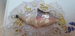 Karácsonyfadisz üveg, csavart csepp
