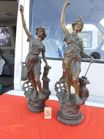 2 antique sculptures
