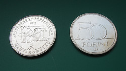 2018 - World Hockey Championship - 50 HUF circulation coin commemorative version