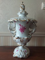 Herend apponyi patterned phoenix bird vase / dragon vase / xxl size 58 cm