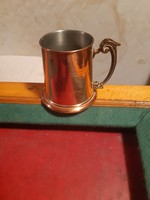 Luxurious old copper mug (glass)