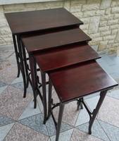 Thonet wien service tables, 4 pedestal statue holders, laptop, tobacco, storage table