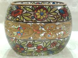 Antik,jelzett üveg dekoráció