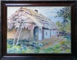 Koronthály Jenő (1883-) Parasztudvar