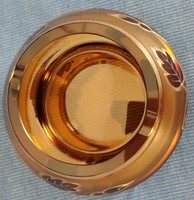 Bohemian ashtray with thick gold decoration
