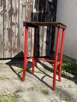 Antique thonet wood service sideboard table laptop table flowerpot table with bent legs