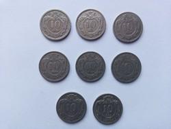 8 db 10 heller Ausztria 1893-1909