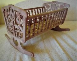 Toy plastic baby cradle for sale! Retro!