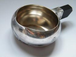 H. Béard ezüst vagy ezüstözött art deco kiöntő edény bakelit fogóval
