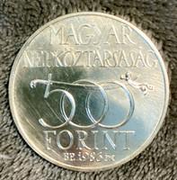 EZÜST ÖTSZÁZ FORINTOS - 1986 - BUDAVÁR VISSZAVÉTELE