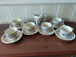 Zsolnay 6 bamboo patterned coffee cups + milk