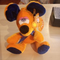 Cute yellow plush mouse 20cm new
