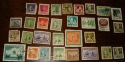 30 db kommunista kínai bélyeg kina népköztársaság Sun Yat Sen japán megszállási felülbélyegzés hajó