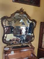 Barokk tükör arany színű keretben