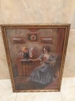 ZÁHONYI GÉZA: eredeti festménye
