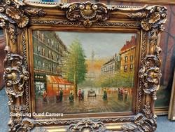 Paris street scene in blondel frame
