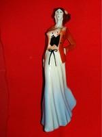 Régi Török János formatervű gyönyörű Art deco ritka porcelán hölgy figura a  képek szerint 20 cm