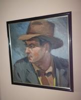 Jelzett Bartosi László olaj festmény 1957.  keretben 44x48 cm