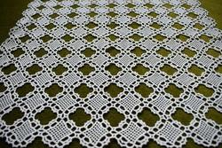 Horgolt csipke kézimunka lakástextil dekoráció kis méretű terítő asztalközép 45 x 45 cm