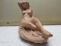 Marked terracotta nude sculpture