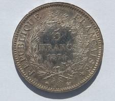 5 frank 1874 - Ezüst 0.900
