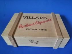 Vintage villars swiss chocolate wooden box, wooden box