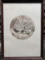 Etching collectors attention !! Ambraham Raphael-Old Obudity Etching