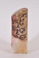 Antik kínai szappankőből faragott bélyegző