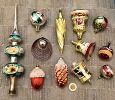 Régi retro  , üveg Karácsonyfadíszek