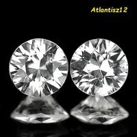 Brilliant! Genuine 100% Natural White (Colorless) Zircon Gemstone Pair 1.54ct (vvs-vsi)