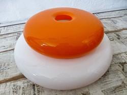 Retro narancssárga.fehér lámpabúra,csillár búra