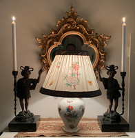 From one forint - antique, larger Victorian patterned Herend table lamp
