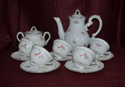 Zsolnay baroque feathered, scattered floral coffee set