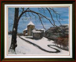 VADUZI VÁR - tájkép (85X68 cm)