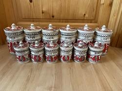 Corundum Ceramic Package Salt Pepper Flour Container Storage Box 12pcs