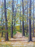 Forest road - landscape (21.1x28 cm)