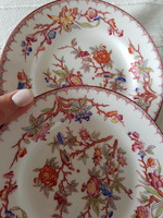 2 pcs sarreguemines hand painted plate