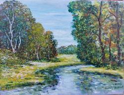 Slow river wash - landscape (28x 21.2 cm)